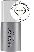 Parfémy, Parfumerie, kosmetika Vrchní lak 2v1 pro gel-lak - Semilac Base/Top 2in1