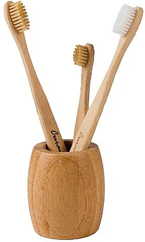 Bambusový stojánek na zubní kartáčky - Curanatura