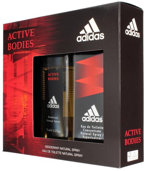 Adidas Active Bodies - Sada (edt/100ml + deo/75ml)