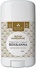 """Parfémy, Parfumerie, kosmetika Deodorant na základě sodovky """"Indický mandarín"""" (plast) - Ben & Anna Natural Soda Deodorant Indian Mandarine"""