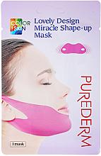 Parfémy, Parfumerie, kosmetika Liftingová modelovací v-line maska na bradu a lícní kosti - Purederm Lovely Design Miracle Shape-up V-line Mask