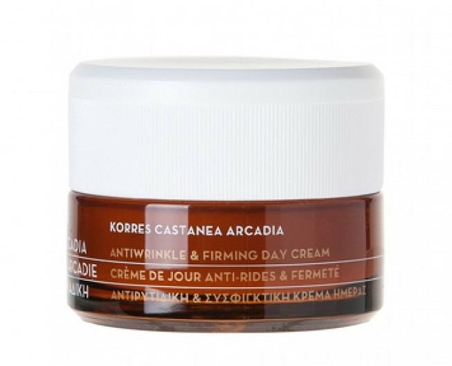 Denní krém proti vráskám s kaštanem - Korres Castanea Arcadia Antiwrinkle&Firming Day Cream — foto N2