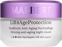 Parfémy, Parfumerie, kosmetika Posilující noční krém na obličej - Marbert Lift4Age Protection Straffende Anti-Aging Night Care