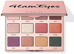 Parfémy, Parfumerie, kosmetika Paleta očních stínů - Mesauda Milano Glam'eyes 12 Multi Finish Compact
