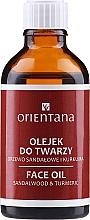 """Parfémy, Parfumerie, kosmetika Olej na obličej """"Santalové dřevo a kurkuma"""" - Orientana Face Oil Sandalwood & Turmeric"""