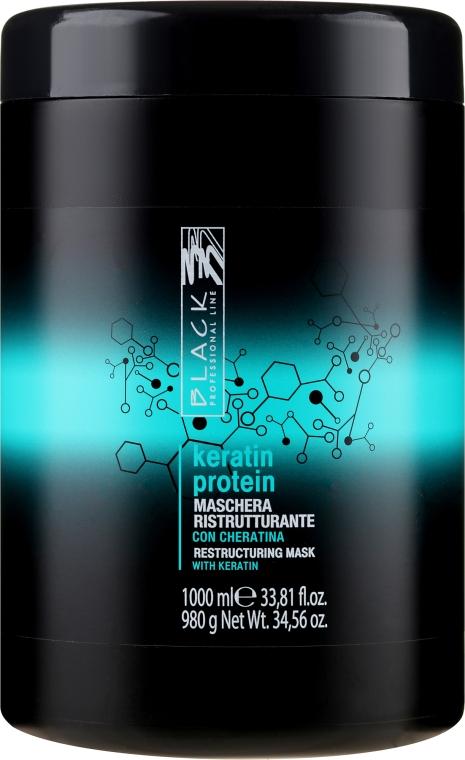 Rekonstrukční maska pro poškozené vlasy Keratinový protein - Black Professional Line Keratin Protein Mask