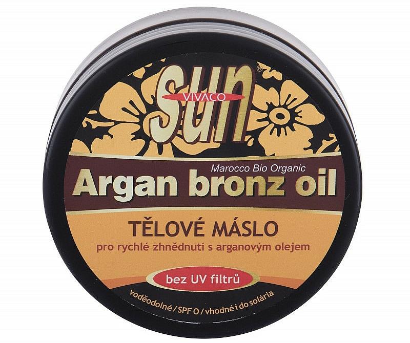 Tělové máslo pro rychlé zhnědnutí s arganovým olejem - Vivaco Sun Argan Bronze Oil Tanning Butter