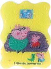 Parfémy, Parfumerie, kosmetika Dětská koupelová houba Prasátko Peppa Prasátko Tom a Tatínek Prasátko - Suavipiel Peppa Pig Bath Sponge