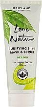 Parfémy, Parfumerie, kosmetika Čisticí maska a peeling 2v1 - Oriflame Love Nature Purifyng 2in1 Mask&Scrub