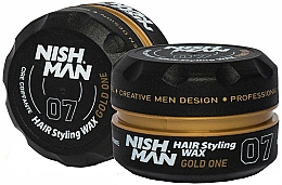 Parfémy, Parfumerie, kosmetika Stylingový vosk na vlasy - Nishman Hair Styling Wax 07 Gold One