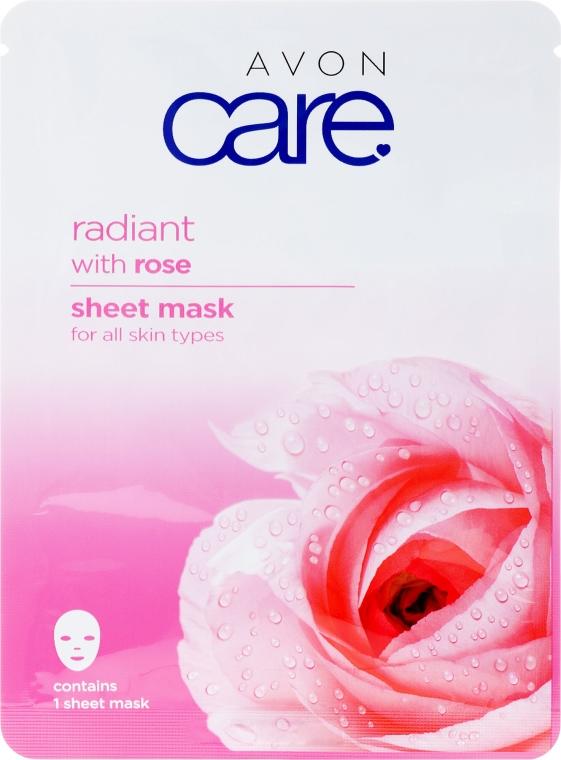 Zesvětlující maska na obličej s extraktem růže - Avon Care Radiant Sheet Mask With Rose — foto N1