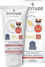 Parfémy, Parfumerie, kosmetika Opalovací krém - Attitude Little Ones Sensitive Skin Sunscreen SPF 30