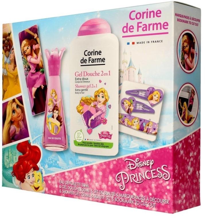 Corine de Farme Princess - Sada (edt/30ml +sh/gel/250ml + accessories)