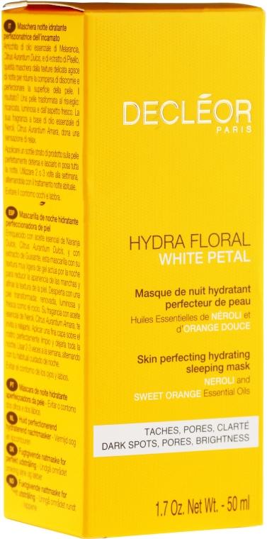 Změkčující maska na obličej - Decleor Hydra Floral White Petal Skin Perfecting Hydrating Sleeping Mask — foto N2