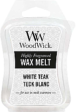Parfémy, Parfumerie, kosmetika Voňavý vosk - WoodWick Wax Melt White Teak