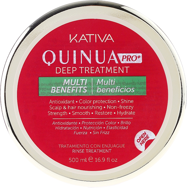 Maska pro intenzivní péči o barevné vlasy - Kativa Quinua PRO Deep Treatment — foto N4