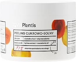 """Parfémy, Parfumerie, kosmetika Tělový peeling """"Liči a olej makadamie"""" - Vis Plantis Sugar & Salt Body Scrub"""