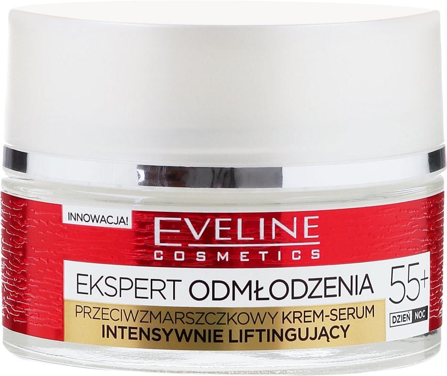 Omlazující krém-sérum proti vráskám 55+ - Eveline Cosmetics Expert Cream-Serum 55+ — foto N2