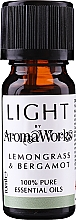 Parfémy, Parfumerie, kosmetika Esenciální olej Citronová tráva a bergamot - AromaWorks Light Range Lemongrass and Bergamot Essential Oil