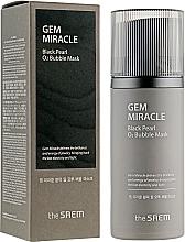 Parfémy, Parfumerie, kosmetika Kyslíková maska s černou perlou - The Saem Gem Miracle Black Pearl O2 Bubble Mask
