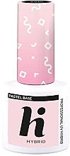 Parfémy, Parfumerie, kosmetika Vrchní základní vrstva na nehty - Hi Hybrid Pastel Base