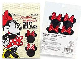 """Parfémy, Parfumerie, kosmetika Látková maska na pleť kolem očí """"Okurka a zelený čaj"""" - Mad Beauty Disney Minnie Mouse Sheet Eye Mask"""