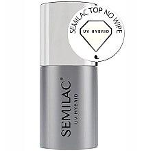 Parfémy, Parfumerie, kosmetika Vrchní Top Coat lak - Semilac UV Hybrid No Wipe