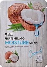 Parfémy, Parfumerie, kosmetika Hydratační pleťová maska - SNP Fruits Gelato Moisture Mask Coconut