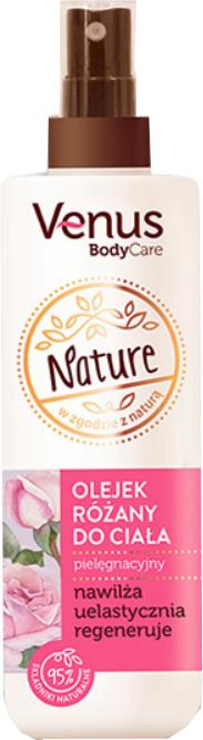 Růžový tělový olej - Venus Nature