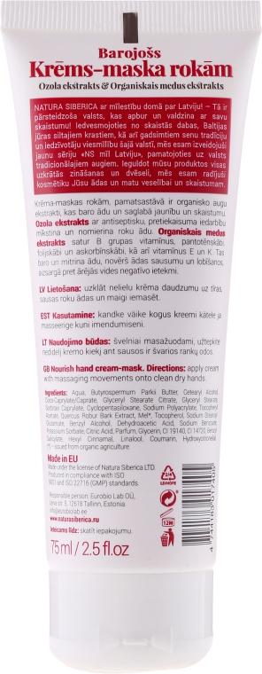 Výživná krém-maska na ruce - Natura Siberica Loves Latvia Hand Cream-Mask — foto N2