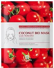 Parfémy, Parfumerie, kosmetika Biocelulózová obličejová maska - Leaders Coconut Bio Tomato Mask