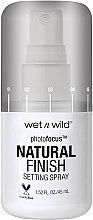 Parfémy, Parfumerie, kosmetika Fixační sprej na make-up - Wet N Wild Photofocus Natural Finish Setting Spray