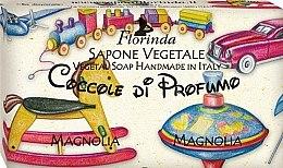 Parfémy, Parfumerie, kosmetika Mýdlo přírodní Magnolie - Florinda Sapone Vegetale Magnolia Vegetal Soap Handmade
