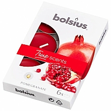 Parfémy, Parfumerie, kosmetika Čajové svíčky Granátové jablko - Bolsius Scented Tea Light Candles True Scents Pomegranate