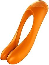Parfémy, Parfumerie, kosmetika Prstový vibrátor, oranžový - Satisfyer Candy Cane Finger Vibrator Orange
