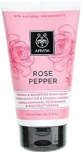 Parfémy, Parfumerie, kosmetika Zpevňující tělový krém s růžovým pepřem - Apivita Rose Pepper Firming & Reshaping Body Cream