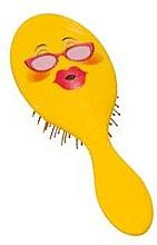 Parfémy, Parfumerie, kosmetika Kartáč na vlasy 2003W, smajlík s brýlemi - IDC Design XL Detangle Brush