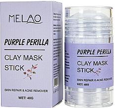 "Parfémy, Parfumerie, kosmetika Maska na obličej ""Purple Perilla"" - Melao Purple Perilla Clay Mask Stick"