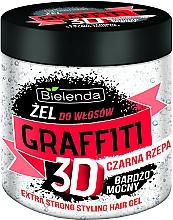 Parfémy, Parfumerie, kosmetika Vlasový gel s černým tuřínem - Bielenda GRAFFITI 3D Extra Strong Stayling Hair Gel