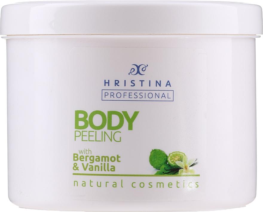 Tělový peeling Bergamot a vanilka - Hristina Professional 100% Natural Bergamot&Vanilla Body Peeling