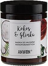 Parfémy, Parfumerie, kosmetika Maska pro nízké porézní vlasy - Anwen Low-Porous Hair Mask Coconut and Clay