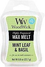 Parfémy, Parfumerie, kosmetika Aromatický vosk - WoodWick Wax Melt Mint Leaf & Basil