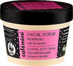 Parfémy, Parfumerie, kosmetika Scrub na obličej Obnovující - Cafe Mimi Facial Scrub Renewing
