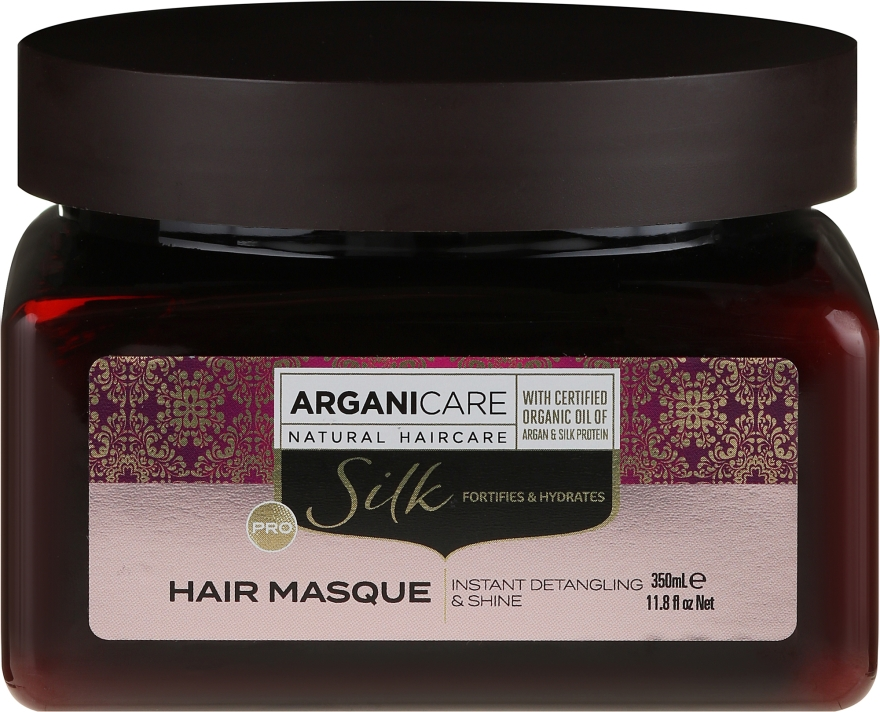 Maska na vlasy s hedvábným proteinem - Arganicare Silk Hair Masque