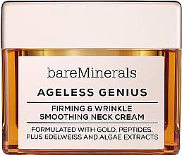 Parfémy, Parfumerie, kosmetika Zpevňující a vyhlazující krém na krk - Bare Escentuals Bare Minerals Moisturizer Ageless Genius Firming & Wrinkle Smoothing Neck Cream