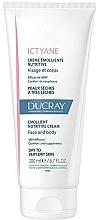 Parfémy, Parfumerie, kosmetika Výživný a změkčující hydratační krém na obličej a tělo - Ducray Ictyane Emollient Nutritive Anti-Dryness Face & Body Cream