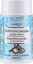 Parfémy, Parfumerie, kosmetika Ochranný pudr na nohy a boty s eukalyptovým olejem a mentolem - Marion Dr Koala Protective Powder