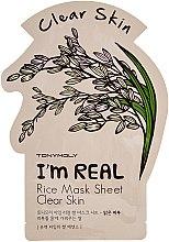 Parfémy, Parfumerie, kosmetika Látková maska na obličej - Tony Moly I'm Real Rice Mask Sheet