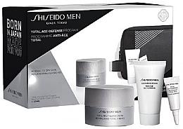 Parfémy, Parfumerie, kosmetika Sada - Shiseido Men Total Age-Defense Program Set (cr/50ml + foam/30ml + eye/cr/3ml + bag)