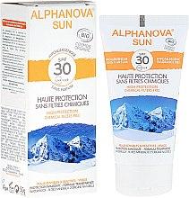 Parfémy, Parfumerie, kosmetika Opalovací krém - Alphanova Sun SPF 30 Sans Parfum Bio